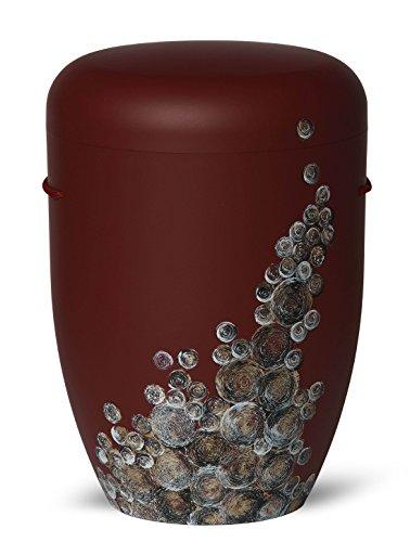 The Coffin Company Cenicero Biodegradable para Cremación, Tamaño Adulto, Diseño de Burbujas rizadas