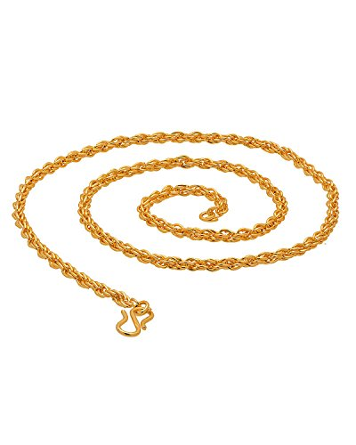 Factorywala Shiny Gold Plated Golden Chain For Men/Boys