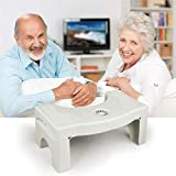 CRZJ Medizinischer Toilettenhocker Rutschfest Badezimmer Sitzen Lagerung Hocker Falten Kunststoff Toilette Fußschemel