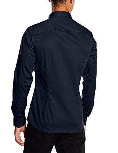 JACK & JONES PREMIUM Herren Slim Fit Business Hemd Jjprparma Shirt L/s Noos Blau (Navy Blazer/SUPER SLIM)