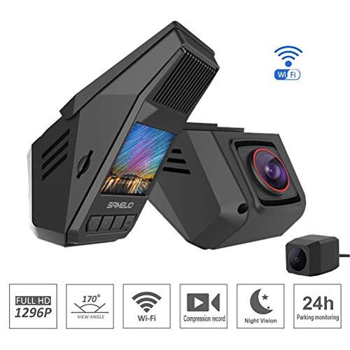 WiFi verstecktes Auto DVR 1296P Nachtsicht Universal Dash Cam Recorder Wireless Dual Kameras G-Sensor Parkplatzüberwachung