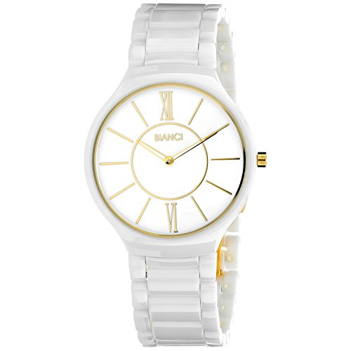 ROBERTO BIANCI WATCHES Women's 'Capri' Quartz Ceramic Casual Watch, Color:White (Model: RB58781)