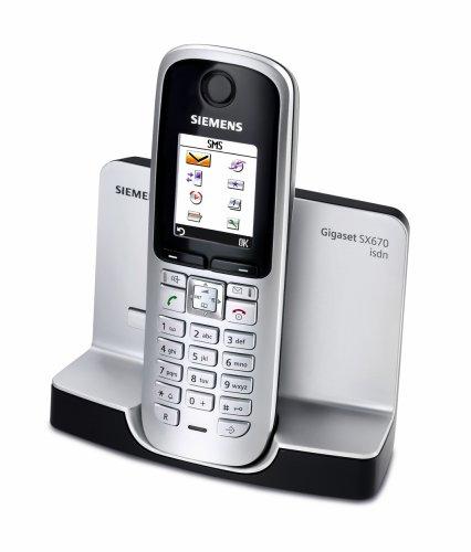 Siemens Gigaset SX670 isdn schnurloses ISDN-Telefon mit Farbdisplay, titanium