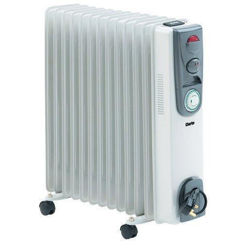 410MJinEDAL. SS500  - CLARKE 2500 watts 13 FIN OIL FILLED RADIATOR 230 volts OFR13/250