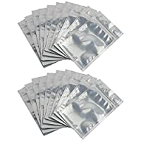ANWANG Smell Proof Bags 50 Pieces Resealable Clear Zip Lock Mylar Bags Aluminum Foil Zip Lock Bulk Food Storage Bag (3.3 x 5.5 Inch)