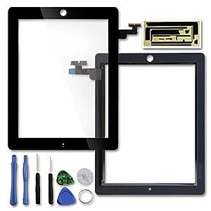 Ersatz Digitizer Touchscreen Frontscheibe Anzeige für Apple iPad 2 + freie Werkzeuge