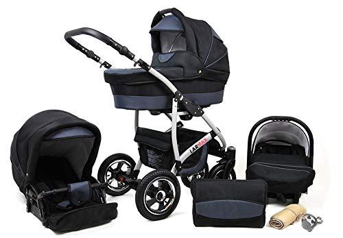 R10 Zeo Rio Kinderwagen Kombikinderwagen Babywagen 3in1 mit Zubeh/ör 0-3 Jahre 0-15 kg All in One