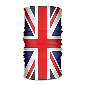 guanggs Unisex Stylish Union Jack British Flag UK Quick Dry Microfiber Headwear Outdoor Magic Bandana Neck Gaiter Head Wrap Headband Scarf Face Mask Ultra Soft Elastic Handscarf