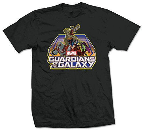 Marvel Guardians of The Galaxy Group Logo T- T-Shirt Noir, Medium Homme