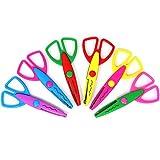 com-four® 6X Bunte Bastelscheren mit Verschiedenen Schnittmustern, Bastel-Schere für Kinder (06 Stück - Bastelschere bunt)