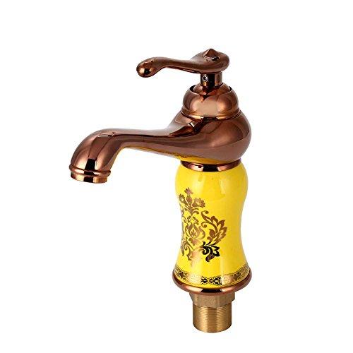 H TY-stile europeo Q bacino caldo e freddo rubinetto interamente in rame armadietto colore di primo piano bagno