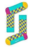 Happy Socks Damen Freizeitsocken Filled Optic Sock, 6er Pack, Türkis (Hell Türkis 7001), One Size (Herstellergröße: 36-40)