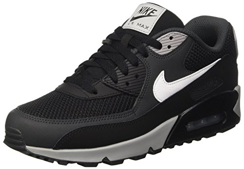Nike Herren Air Max 90 Essential Sneakers, Schwarz (Black/White-Anthracite-Wolf Grey), 40.5 EU