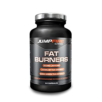 All Natural Thermogenic Fat Burner and Weight Loss Pills by Jumpfire Nutrition | T5 Fat Burn and Slimming Tablets | Gluten and Dairy Free Diet Capsules | Maximum Strength Formula, 60 Supplements by Jumpfire Nutrition