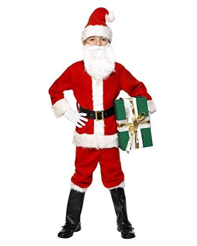 Horror-Shop Weihnachtsmann Kostüm für Kinder L (Kinder Kostüm Weihnachtsmann)