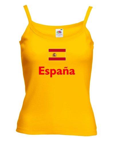 Spanien Espana Damen T-Shirt Spaghettiträger WM 2014|g-m