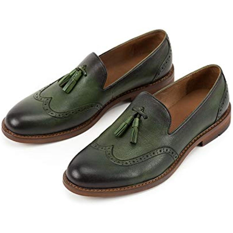 MXNET Mode de véritable Haute qualité en Cuir véritable de Respirant Oxfords Casual Chaussures Bout Rond Slip-on Mocassins... - B07GXGT8V4 - 320f74