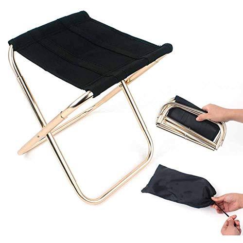 QYLJX Tragbarer Klapphocker, Outdoor Mini Camping Hocker Stuhl Slacker Stuhl für BBQ Camping Angeln Reisen Wandern Garten Strand mit Tragetasche, 248 * 225 * 270 mm
