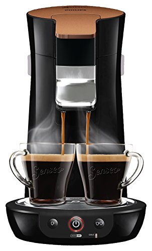 Philips Senseo Viva Cafe Style HD7836/90 Kaffeepadmaschine (Kaffee Boost Technologie, kupfer)...