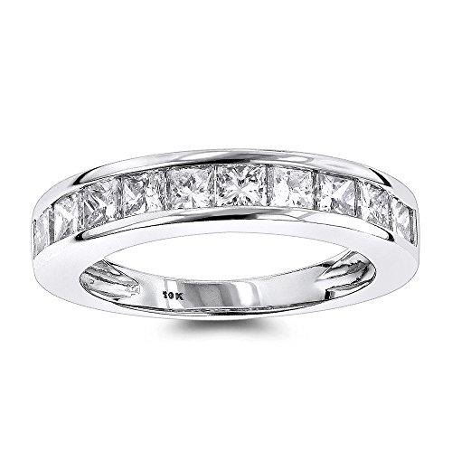 luxurman-thin-1-row-princess-cut-diamond-wedding-band-10k-white-gold-size-7