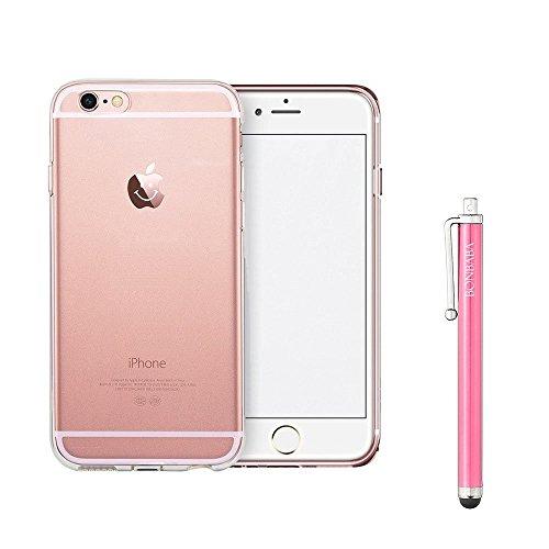 Coque iPhone 7 Plus Housse étui-Case Transparent Liquid Crystal Mandala en TPU Silicone Clair,Protection Ultra Mince Premium,Coque Prime pour iPhone 7 Plus (2016)-les petits moutons Smiling Apple
