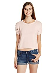 People Womens Cotton Pullover (P20401186084828_Pink_X-Large)