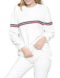 Germinate Weiß Rot Sweatshirts Damen Tumblr Langarmshirt Pullover Frauen  Oversize Teenager Mädchen babe6b8850