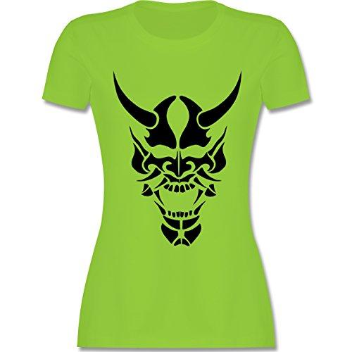Piraten & Totenkopf - Totenkopf - tailliertes Premium T-Shirt mit Rundhalsausschnitt für Damen Hellgrün