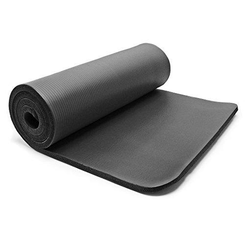 Materasso per yoga nero 190 x 100 x 1.5 cm Materasso per ginnastica molto spesso Antiscivolo
