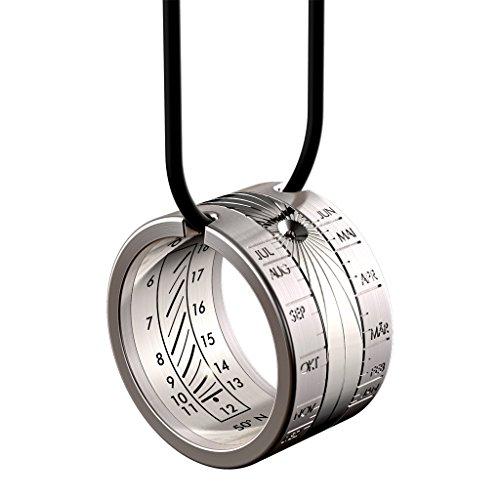 Reloj de sol HELIOS anillo solar de acero inoxidable – anillo y colgante – Reloj anular - Reloj solar de altura