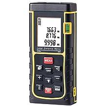 Medidor Láser de Distancia, GRDE Telémetro Láser 0 - 80M, Medidor de Metros con Unidades de Medición Ajustables entre M / In / Ft, Distanciómetro Láser con Baterías AAA Incluídas