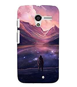 FUSON Ocean At Night With Stars 3D Hard Polycarbonate Designer Back Case Cover for Motorola Moto X :: Motorola Moto X (1st Gen) XT1052 XT1058 XT1053 XT1056 XT1060 XT1055