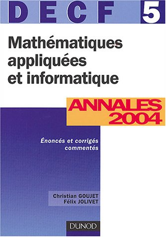 DECF, numéro 5 : Mathématiques appliquées et informatique