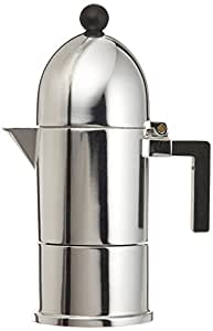 alessi la cupola espressomaschine 1 tasse aus gu aluminium griff und knopf aus pa schwarz. Black Bedroom Furniture Sets. Home Design Ideas
