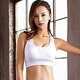 Tianyifeng Kein Stahlring Yoga Sport Unterwäsche weiblich schnell trocknend hoch stoßfest Größe Sport BH weiß L