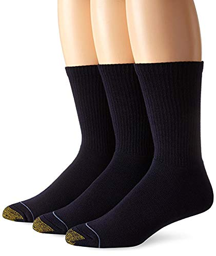 Gold Toe Herren 2306uptown Crew 3Pack Casual Socken, Blau (Socken Kleid Gerippte)