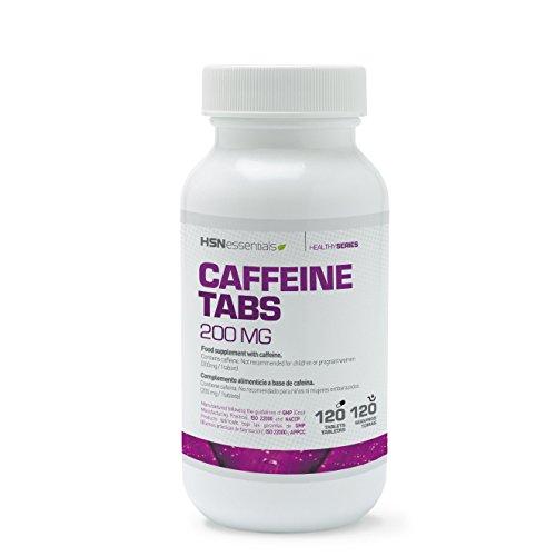 Cafeína Anhidra de HSN Essentials - Estimulante y Quemagrasas - Concentración y Rendimiento Deportivo - Sin Lactosa, Sin Gluten, Apto Veganos - 120 Tabletas