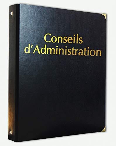 Registre Classeur Conseils d'Administration simili cuir avec Recharge de 100 feuillets numérotés