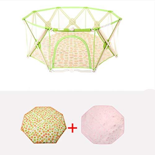 Laufgitter, Baby Laufstall - 8 Panels - Indoor Folding - Baby Safety Bar - Baby-Kleinkindzaun - umweltfreundliches Material - abnehmbar und waschbar - Sicherheitsschloss - Laufgitter (Farbe : A)