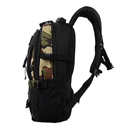 T & Y Business Reisen Rucksack Schule Rucksack Outdoor Sport Camping Wandern Tasche Military Tactical MOLLE Rucksack 40L Camouflage