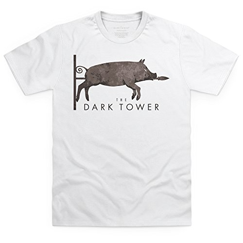Official The Dark Tower Dixie Logo T-Shirt, Herren Wei