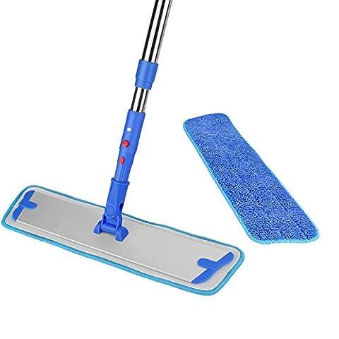 Support Balai serpillère poussière Nettoyeur 2pièces de cassette Fibre Chiffon de nettoyage à sec et mouillé ITTAHO