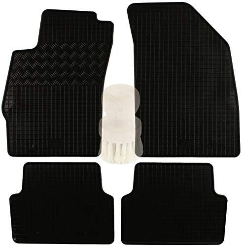 ZentimeX Z954438 Gummifußmatten fahrzeugspezifisch mit Reinigungsbürste