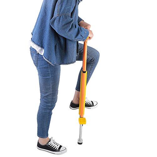 Cocoarm Pogo Stick avec Sangle de Transport pour Enfant et Adultes Légers , bton Sauteur pour Poids de 20kg à 70kg (Jaune)