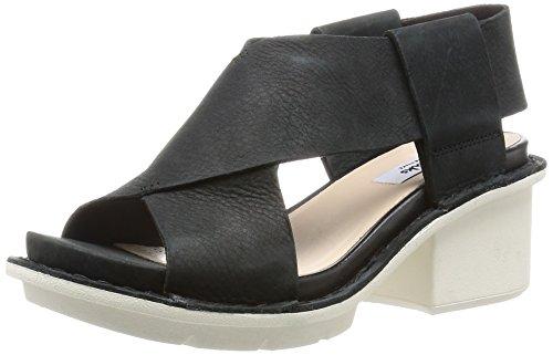 Clarks Hexton Gala- Sandali con Cinturino alla Caviglia donna, colore Nero (Black Nubuck Leather), taglia 38 EU (5 UK)