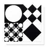 Postkarte Grußkarte / Schwarz-Weiß / Geometrie / Design Muster Formen / Umschlag Briefumschlag / Glückwunschkarte / Geburtstagskarte / von Vorsicht Design® / Panton Art Collection by TAGWERC