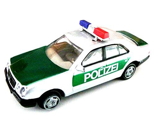 joycity ® - 1 Polizeiwagen - Mercedes PolizeiautoLänge ca. 110 mm - Chassis Kunststoff - Oberteil Metall Spritzguss