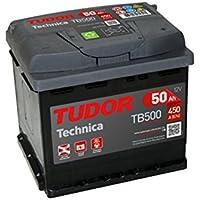 Batería para coche Tudor TB500 Exide Technica 50Ah, 12V. Dimensiones: 207 x 175 x 190. Borne derecha.
