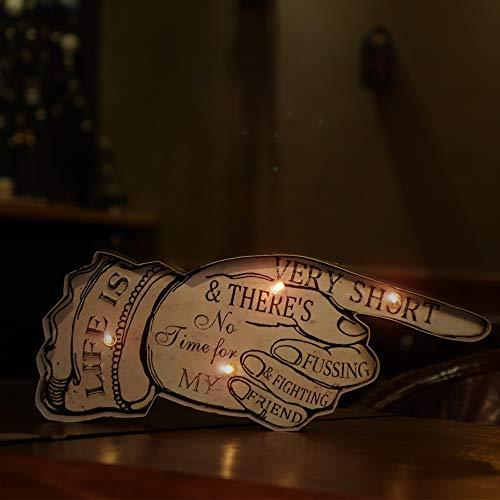 panasign Cafe Pfeil Vintage Metall Decor LED Neon Light Schild OPEN Wand Decor Store Schild Geschenk für Chiristmas Thanksgiving Day Halloween schwarz Freitag Deals Arrow Signs ()