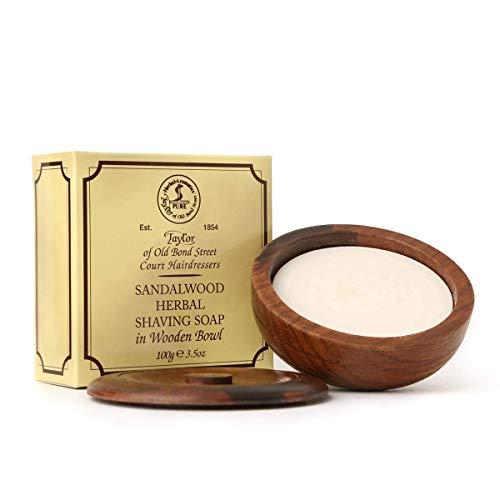 Lemon Lime Shaving Cream (Taylor of Old Bond Street Rasierseife 100g Luxus-Holzschale Sandelholz pflanzliche Rasierseife)